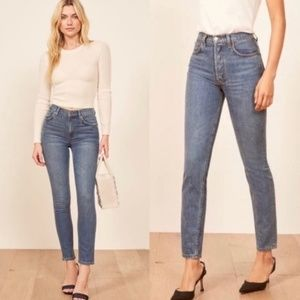 Reformation Melissa High & Skinny Button Fly Jeans